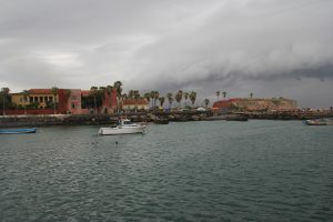 Gorée Island from the boat.