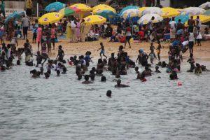 Goree Island beach August 2014