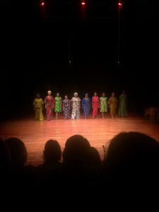 The powerful 10 women of the night. From left to right: Taiwo Ajai-Lycett, Elvina Ibru, Zara Udofia-Ejoh, Rita Edward, Debbie Ohiri, Joke Silva, Omonor, Adenike, Bimbo Akintola and Ufuoma McDermott.