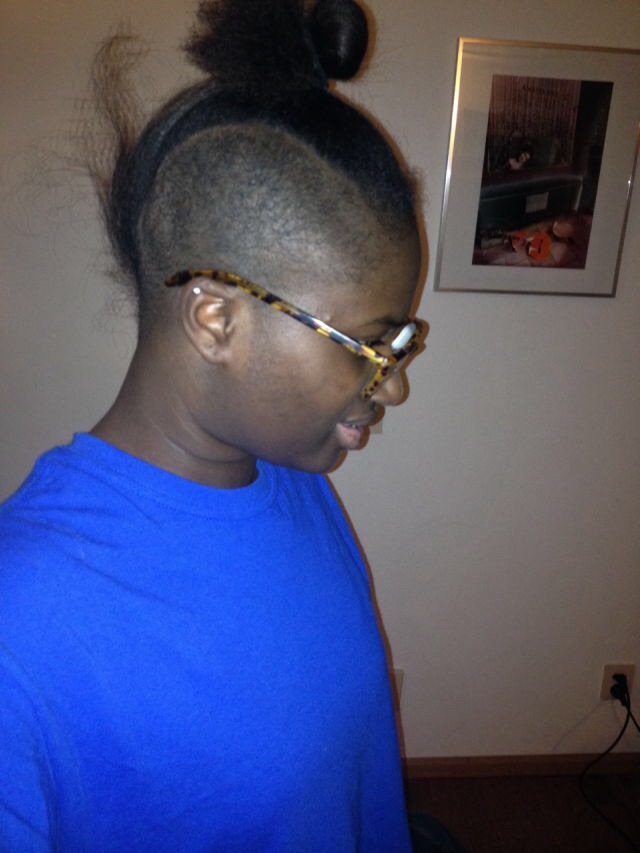 Hair Journey Double Side Cut Senegalese Twisted Natural Hair